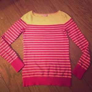 Lily Pulitzer sweater pink striped small