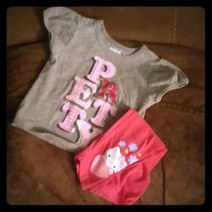 Other - 18 month hello kitty leggings with grey 18 M shirt