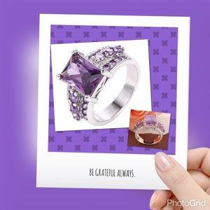 💲✂️ Sterling silver amethyst CZ ring