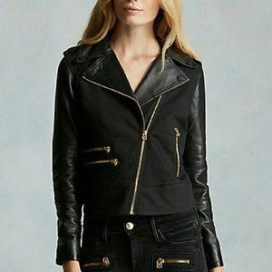 True Religion Jackets & Blazers - NWT True Religion black mix moto leather jacket