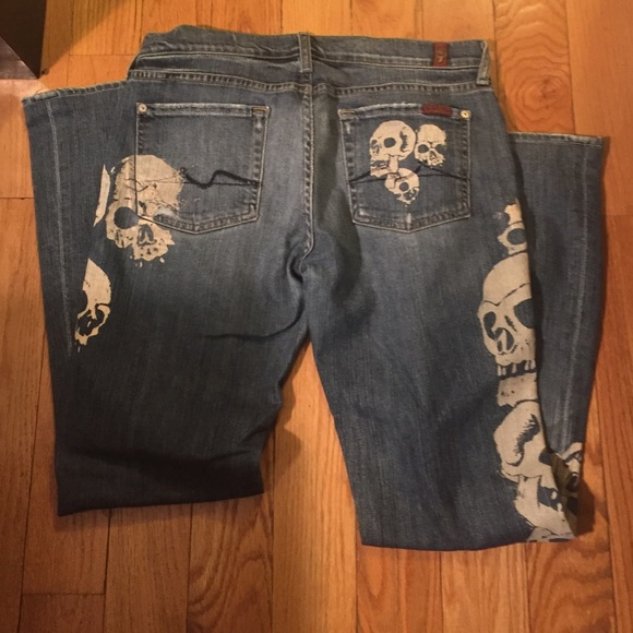 86% off 7 for all Mankind Denim - 7 for all mankind skull Great ...