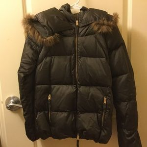 NWOT Zara down faux fur winter jacket