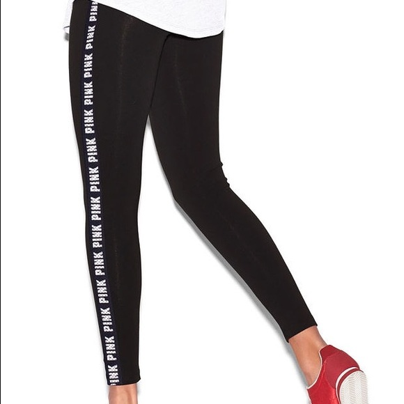 fc078772b2fc2 VS Pink Side Logo Yoga Legging