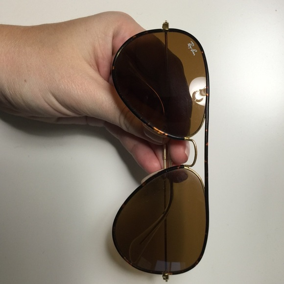 Ray-Ban Accessories - Ray Ban Tortoise Enamel Piped Aviators