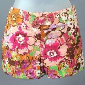 J. Crew Pants - J. Crew Watercolor Lily Shorts