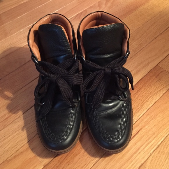 Sandro Leather High Top Sneakers sale great deals sale Manchester buy cheap from china sale sale online extremely cheap price 3E9NZ