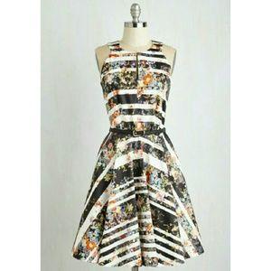 ModCloth Dresses & Skirts - Closet London Floral Belted Dress