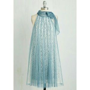 ModCloth Dresses & Skirts - Ryu Romantic Shift Dress in Dusty Blue