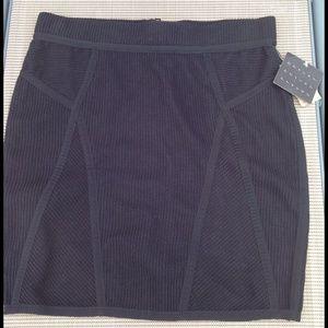 Rachel Roy Dresses & Skirts - RACHEL ROY Black Ribbed Trimmed Mini Skirt