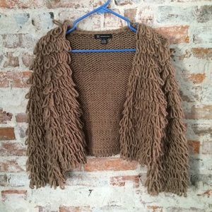 Shaggy Cropped Cardigan Sweater - S