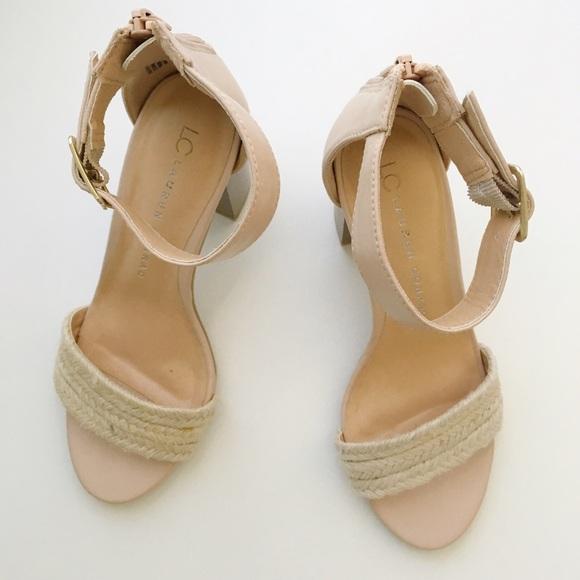 5b6dfc25e95d LC Lauren Conrad Shoes - LC Lauren Conrad blocked heeled blush sandals.