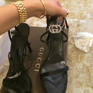 Gucci crystal evening sandal size 41