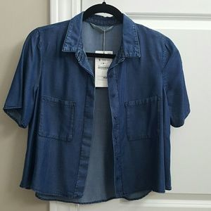 Zara Tops - Zara denim top