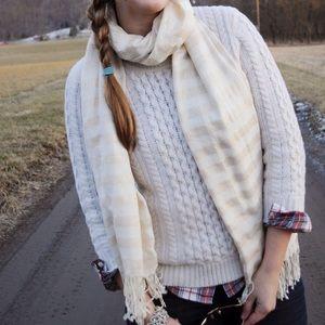 J. Crew Sweaters - Cable knit J.Crew cream sweater