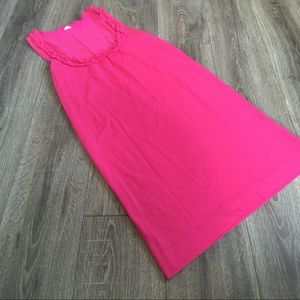 J. CREW PINK Ruffle Front Scoop Neck Tank Dress