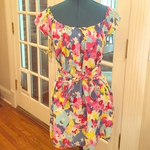 Juicy Couture flower print cotton and silk dress