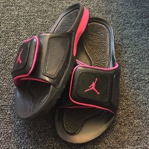 35670b958f8f Women s Pink Jordan Sandals on Poshmark