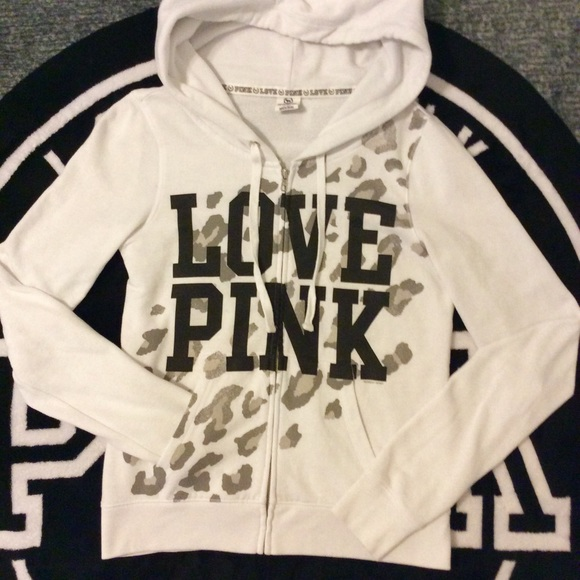 86% off PINK Victoria's Secret Sweaters - VS PINK~white cheetah ...