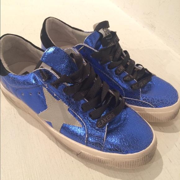 golden goose shoes Blue