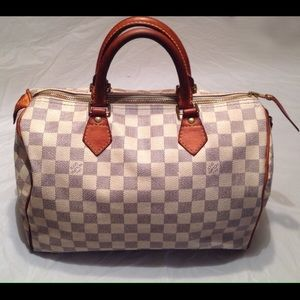 LV Louis Vuitton Damier Azur Speedy 30