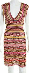 M by Missoni Dresses & Skirts - M Missoni v neck multicolor knit dress