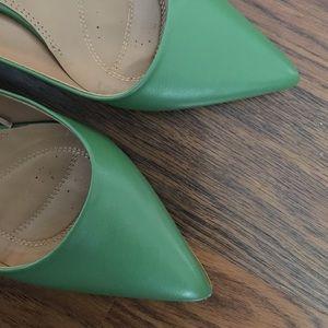 af6e4582b04 Zara Shoes - ZARA green pointed kitten heels WORN TWICE size 39