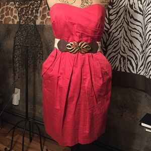 Dresses & Skirts - Red cocktail dress w/ belt