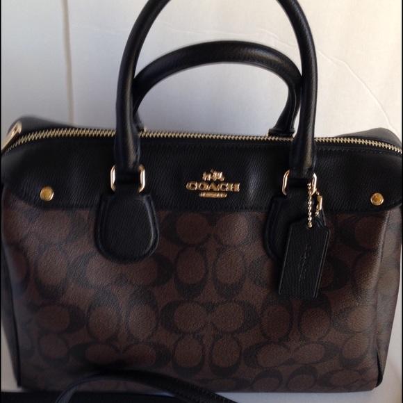 5187d54c58df Coach Handbags - Coach Bennett Signature Satchel Handbag