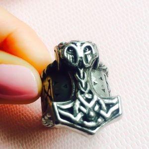 Thor's Rune Hammer Ring 8 - 8.25