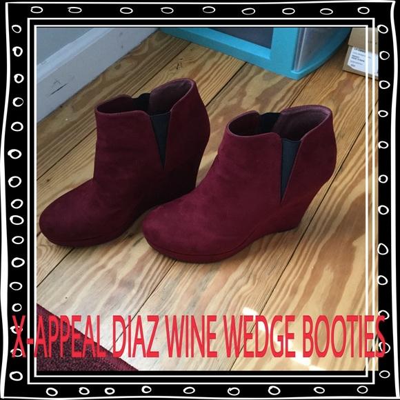 fba9d5ba1c2 X-APPEAL Diaz style Wine Wedge Booties. M 5706a5905c12f83af7033473