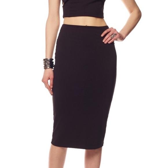 239d357e69 T by Alexander Wang Skirts | Alexander Wang Black Pencil Skirt ...
