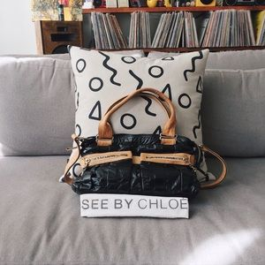 chloe patent handle bag