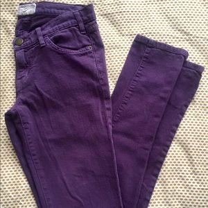 Current/Elliott purple skinny jeans. Size 27.
