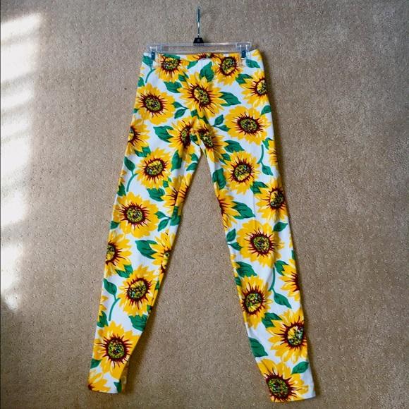 American Apparel Pants - Sunflower printed leggings c1582a0bc