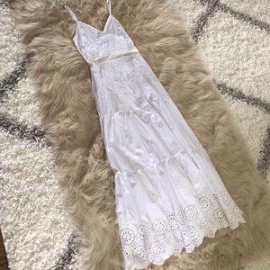 62c31602ebd Dresses - Italian White Linen Maxi Boho Dress