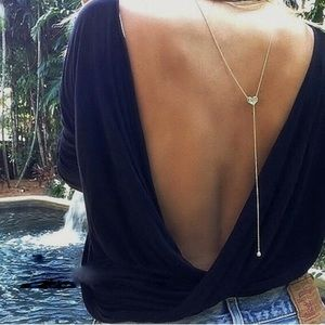 Accessories - Back  chain beach long necklace Backless top