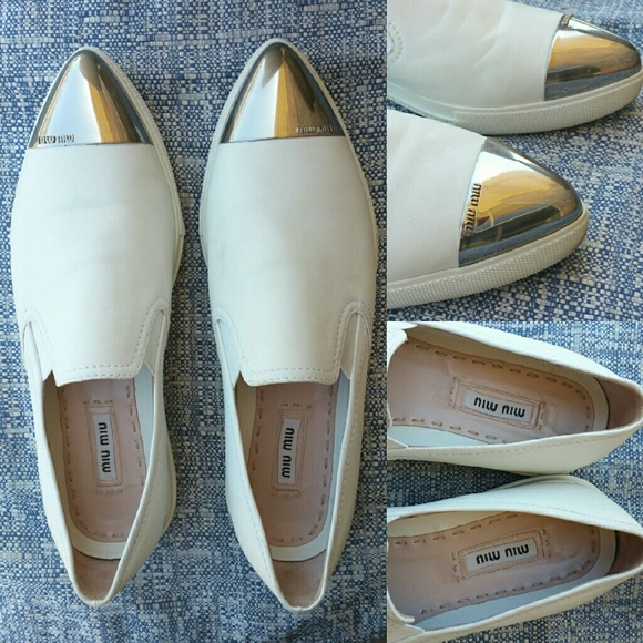 Miu Miu Leather Cap-Toe Flats buy cheap largest supplier amazon cheap price low shipping fee sale online 2014 new shop offer cheap online 81HCjayv
