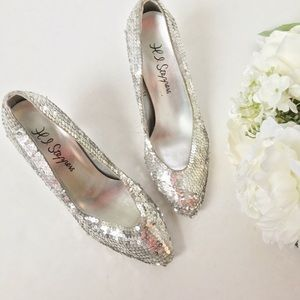 Vintage Shoes - Hi-Step // Sequin Heels - silver