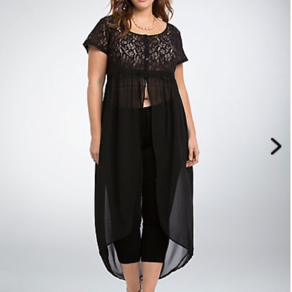 66b90f5eed7 NWT torrid size 2 lace button top maxi tunic top