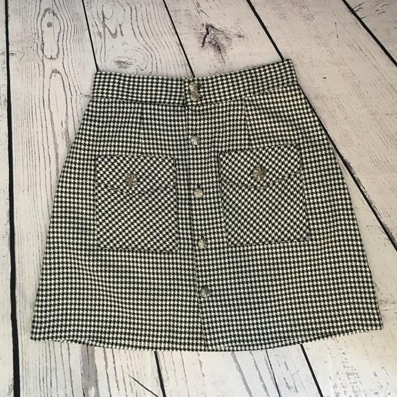 vintage vintage houndstooth high west mini skirt from