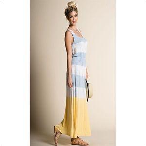 ✨SALE✨Colorblock Tie Dye Maxi Dress