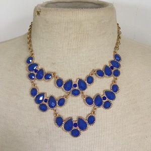 Jewelry - Blue rhinestone necklace statement