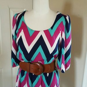 Sequin Hearts Dresses & Skirts - Chevron striped dress