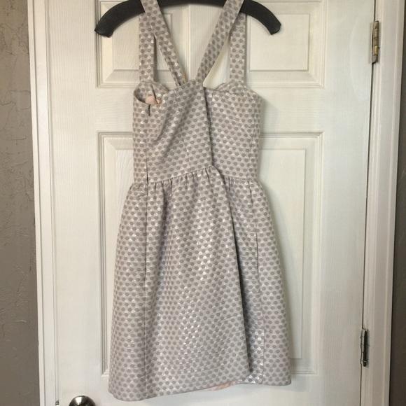Dresses - Silver Cross Strap Dress