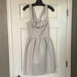 Silver Cross Strap Dress
