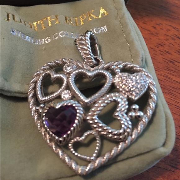 Judith ripka jewelry gorgeous heart pendant poshmark gorgeous judith ripka heart pendant aloadofball Images