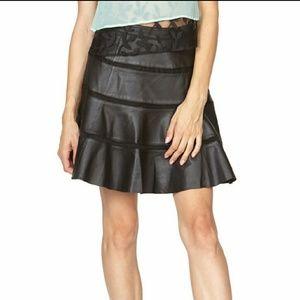 Stella & Jamie Dresses & Skirts - SALE**Black Leather A-Line Skirt *NWT*