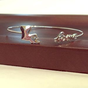 Boutique Jewelry - Silver Louisiana Home State Bracelet
