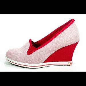 Gotta Flurt Shoes - Sexy Gotta Flurt Red/White Platforms, 9