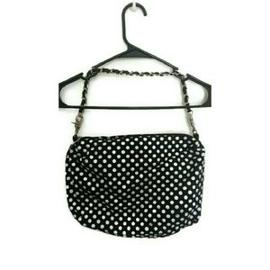 Handbags - Black and white polka dot purse